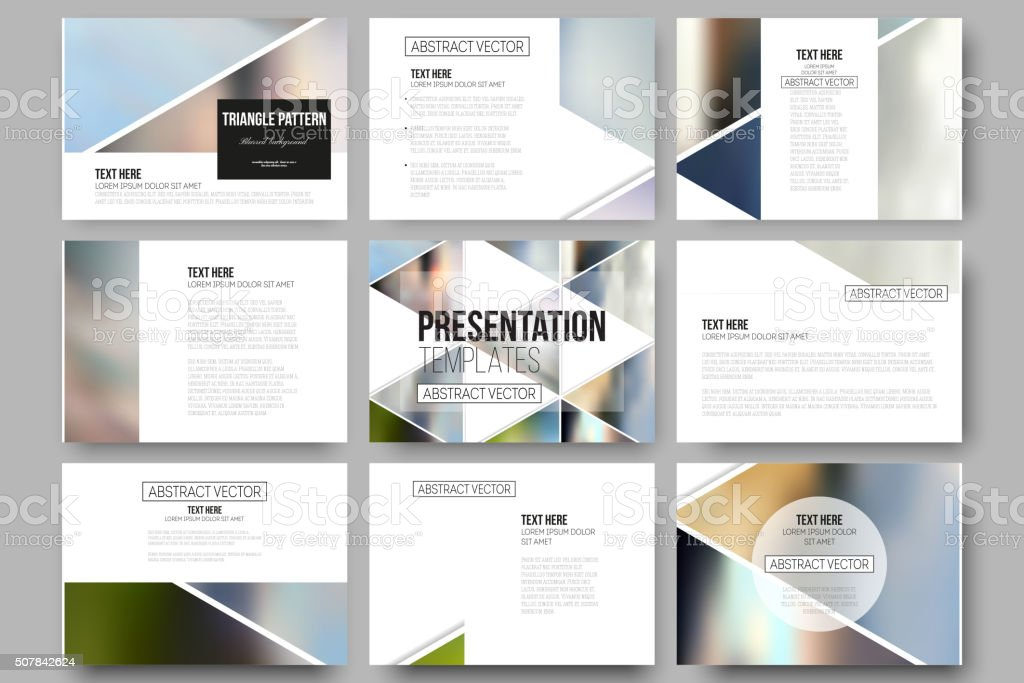 Vector templates for presentation slides. Abstract multicolored background of blurred vector art illustration