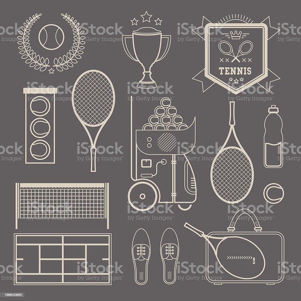 Vector tennis icons royalty-free stock vector art