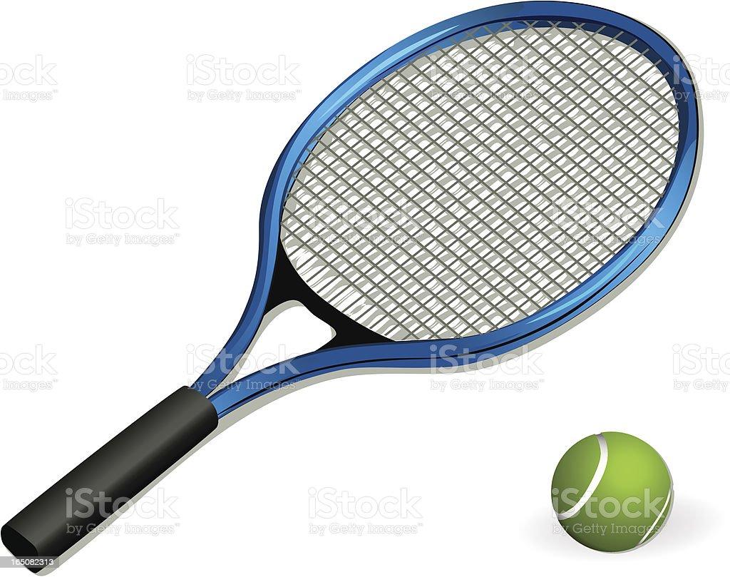 Vector tennis racket and ball royalty-free stock vector art