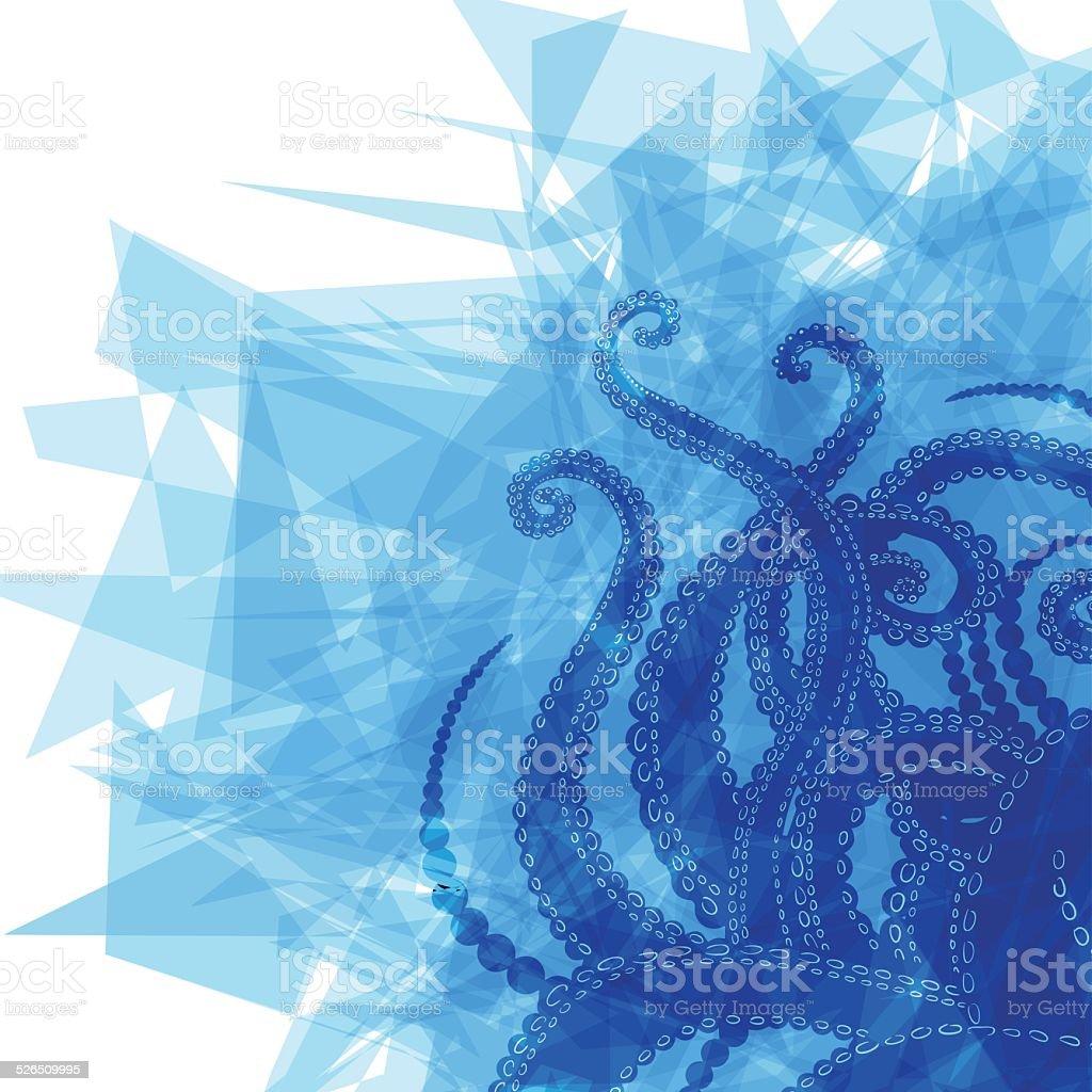 Vector Tentacles background vector art illustration