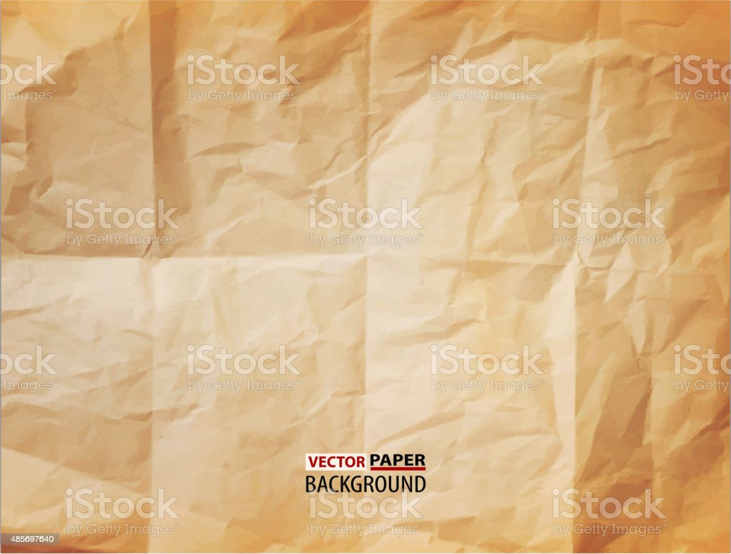 vector texture (element for design) - crumpled paper vector art illustration