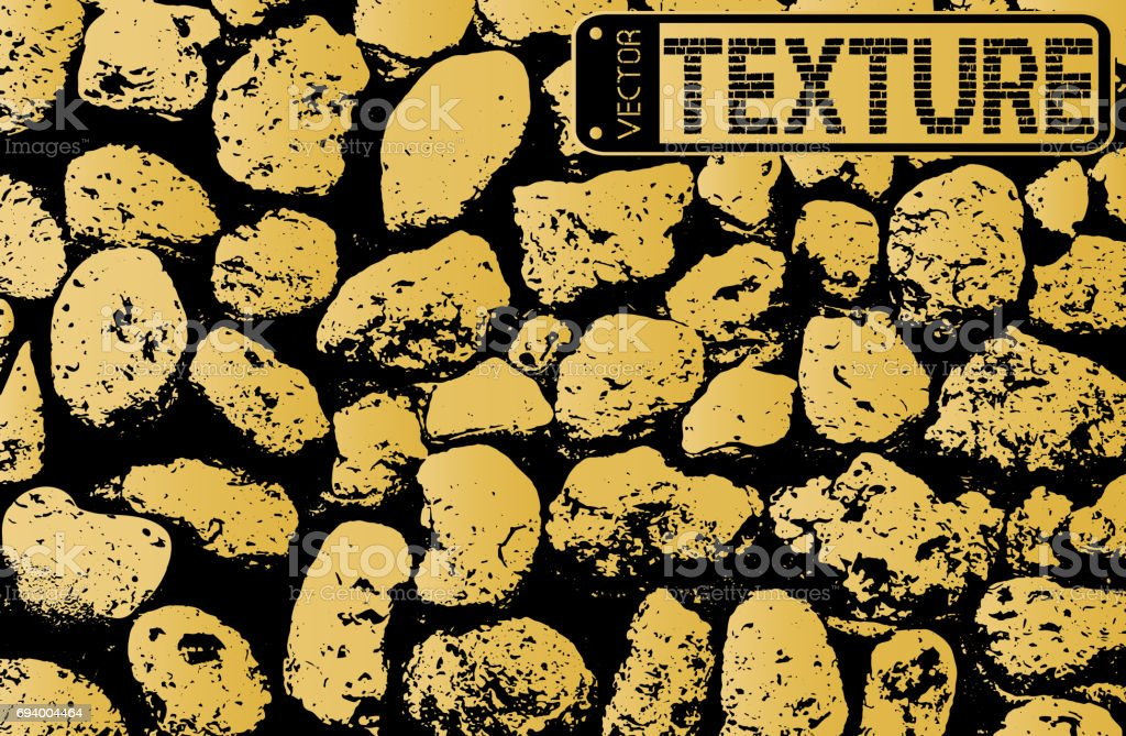Vector texture of golden stone coquina wall in cement. Vector illustration vector art illustration