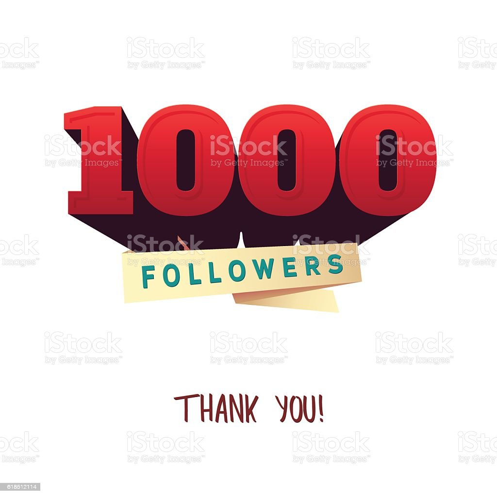 vector thanks design template for network friends and followers