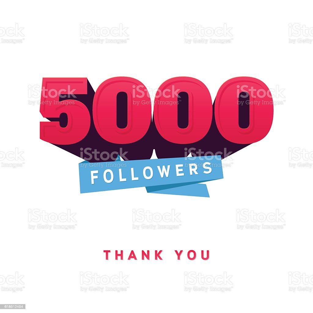 Vector thanks design template for network friends and followers. Thank vector art illustration
