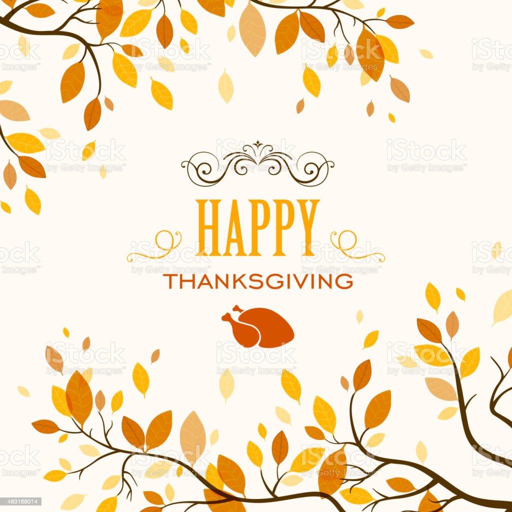Vector Thanksgiving Design vector art illustration