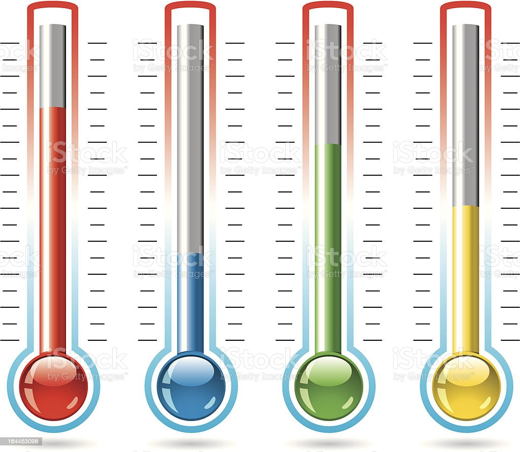 vector thermometers royalty-free stock vector art