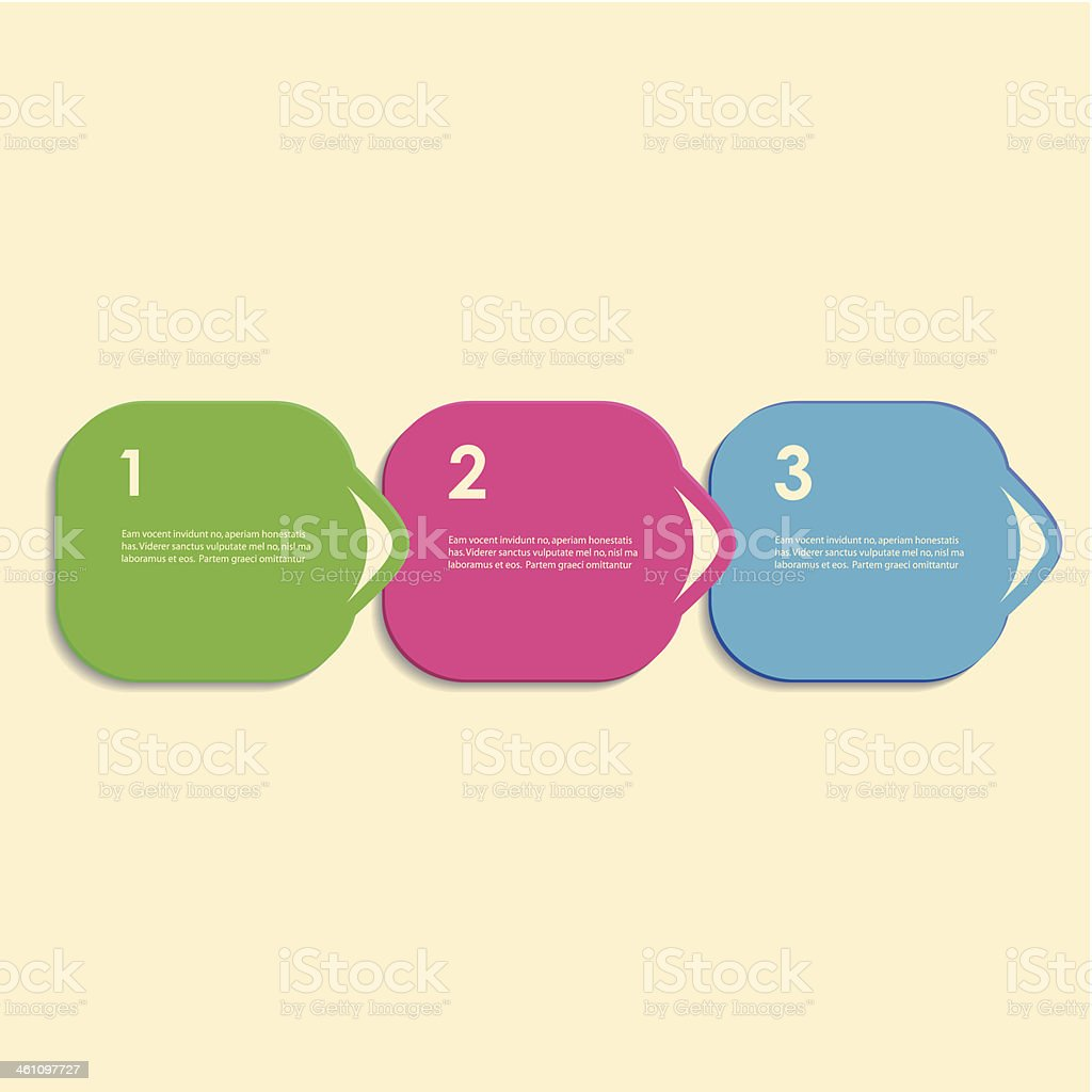 Vector three multicolored squares royalty-free stock vector art