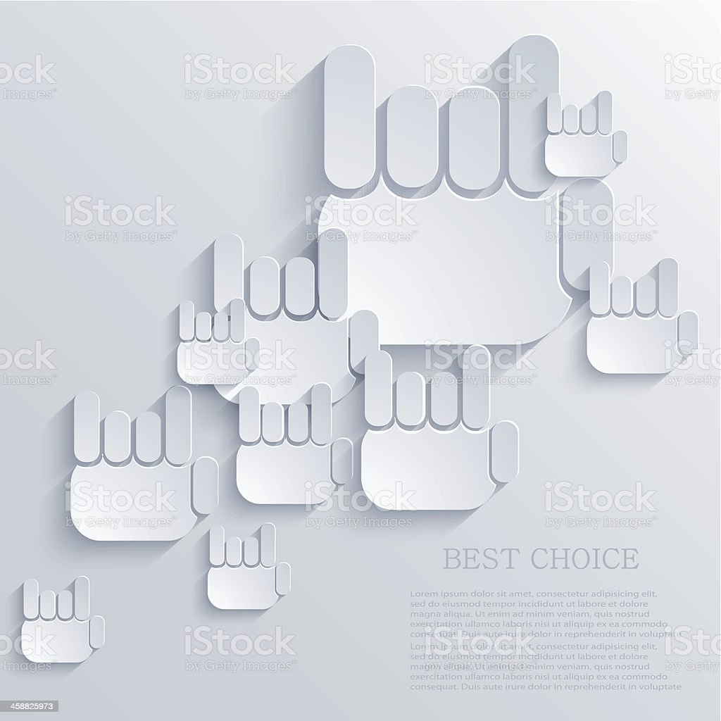 Vector thumb up icon background. Eps10 royalty-free stock vector art