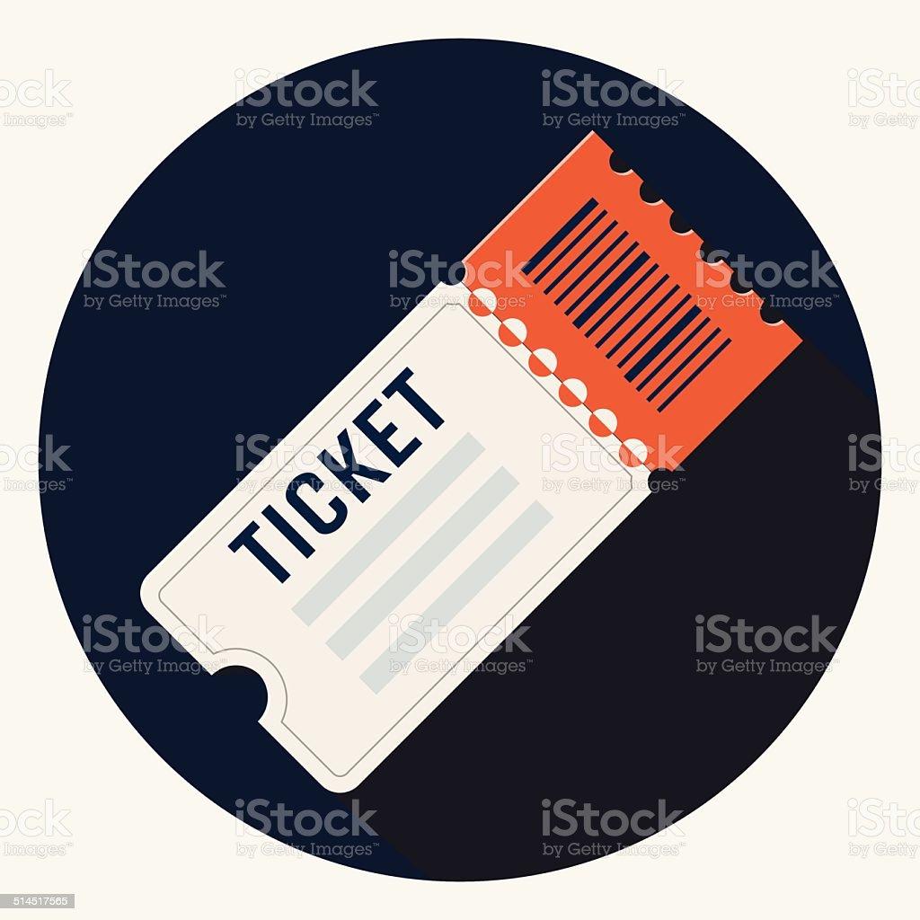 Vector ticket icon vector art illustration