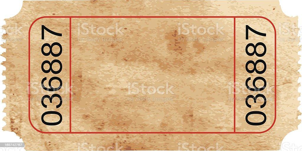 Vector Ticket royalty-free stock vector art
