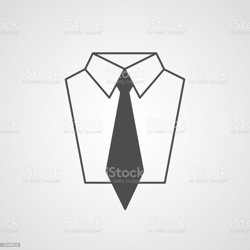 Vector tie and shirt design icon. Business flat symbol concept. vector art illustration