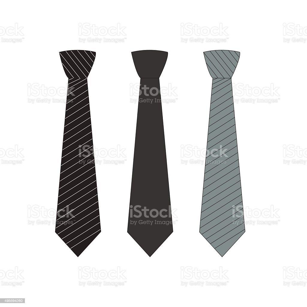 Vector Tie Icon Symbol Set vector art illustration