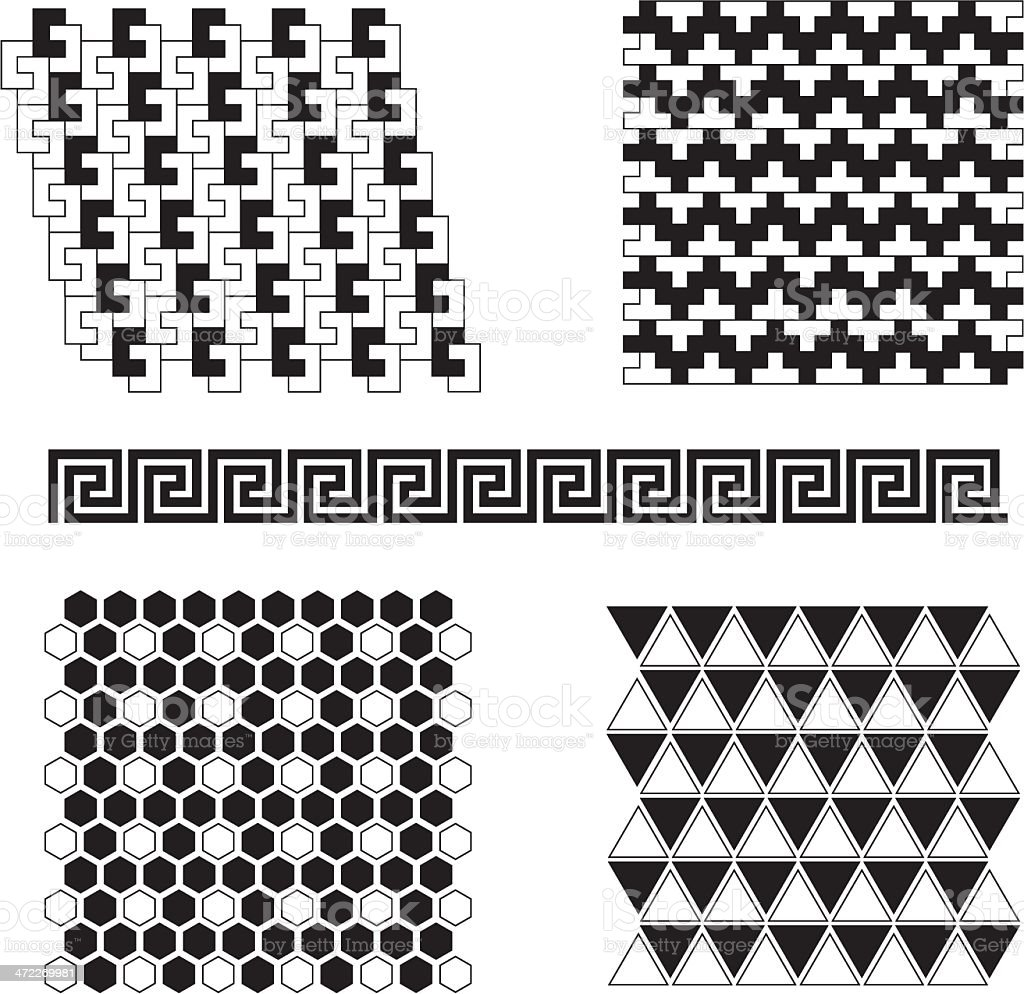Vector Tile Patterns 2 royalty-free stock vector art