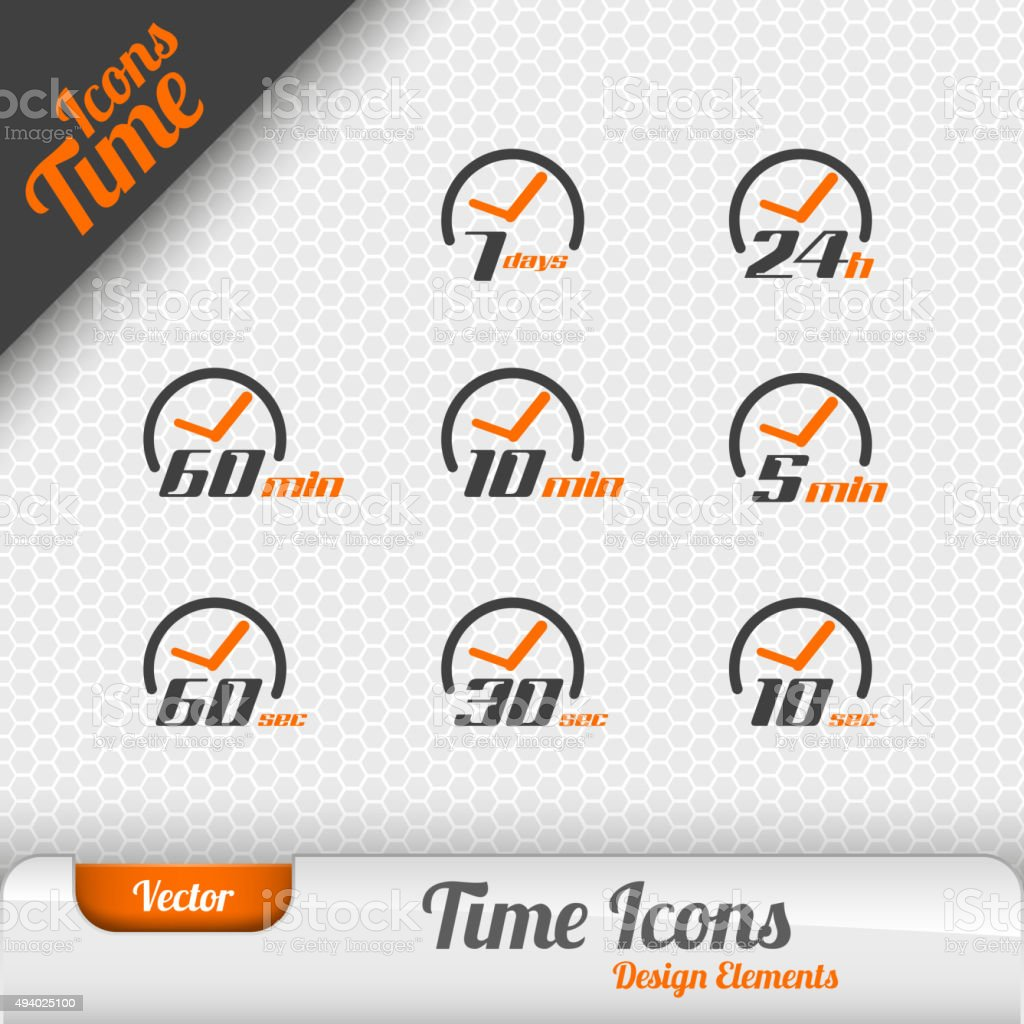 Vector Time Icons vector art illustration