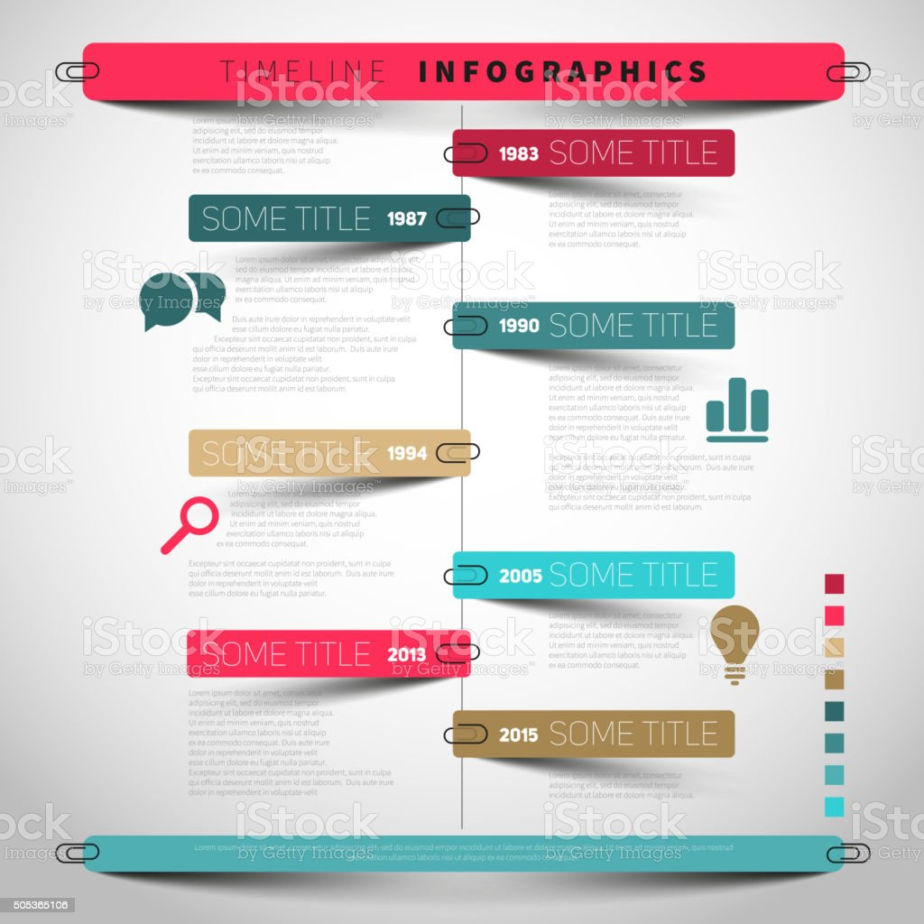 Vector timeline Infographic report template vector art illustration