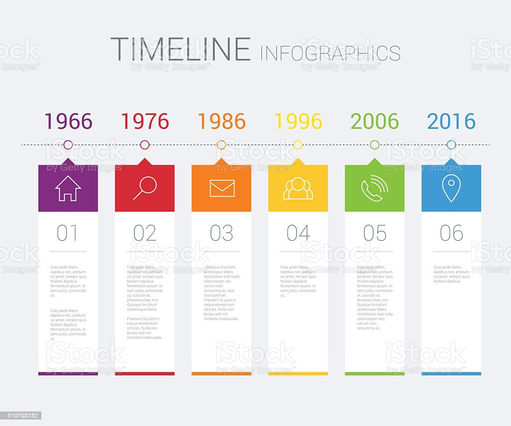 Vector timeline infographic vector art illustration