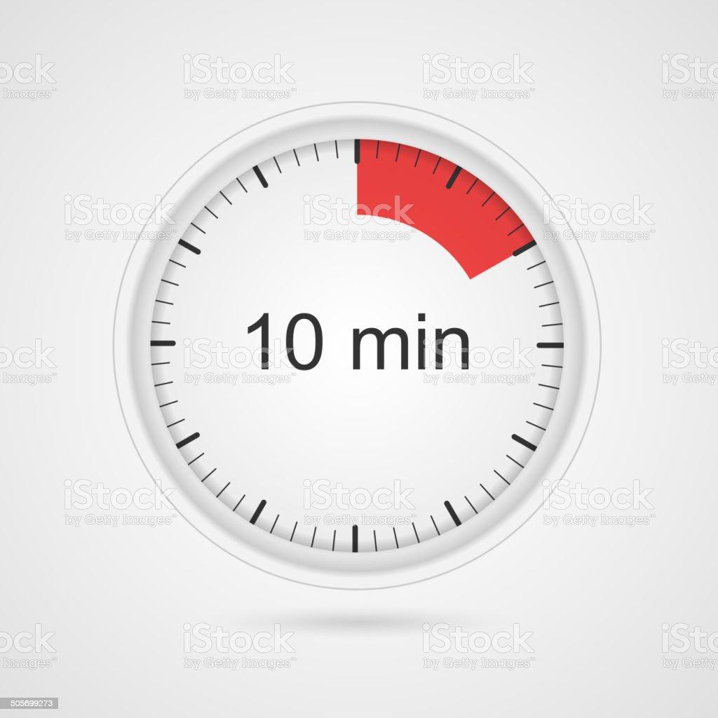 Vector timer icon. vector art illustration