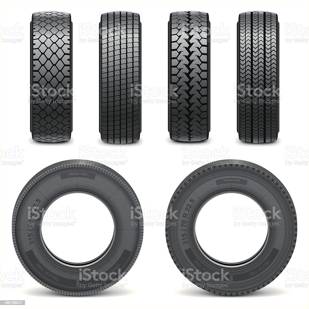 Vector tire icons vector art illustration