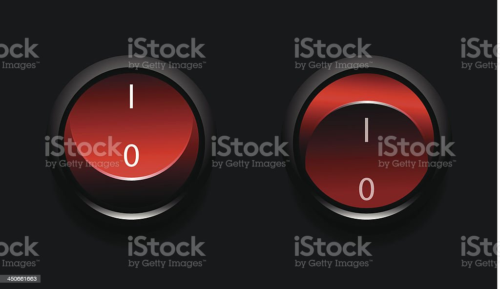 Vector toggle buttons royalty-free stock vector art