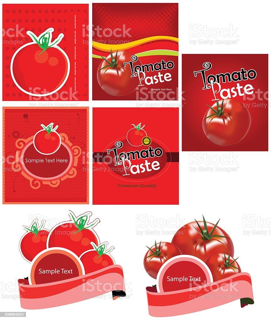 vector tomato label packaging vector art illustration