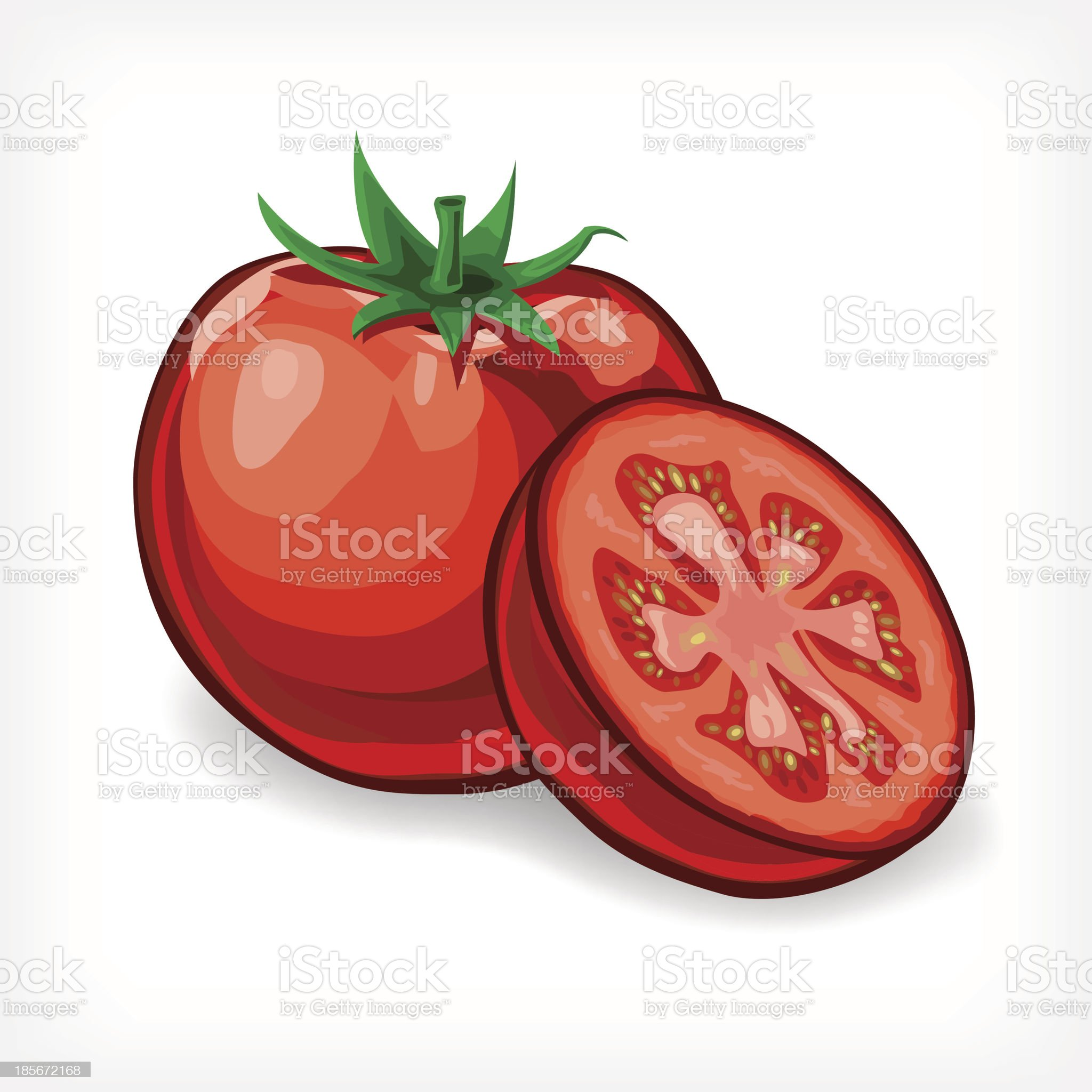 Vector Tomatoes royalty-free stock vector art