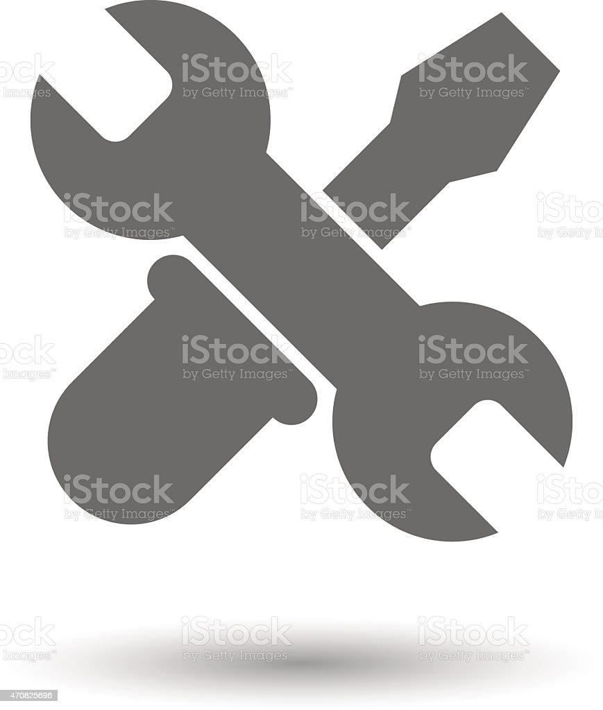 Vector tools icon vector art illustration