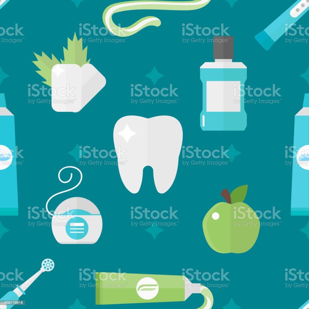 Vector tooth health pattern vector art illustration