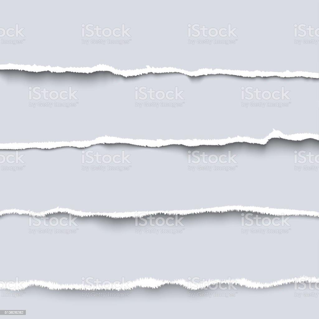 Vector torn paper vector art illustration