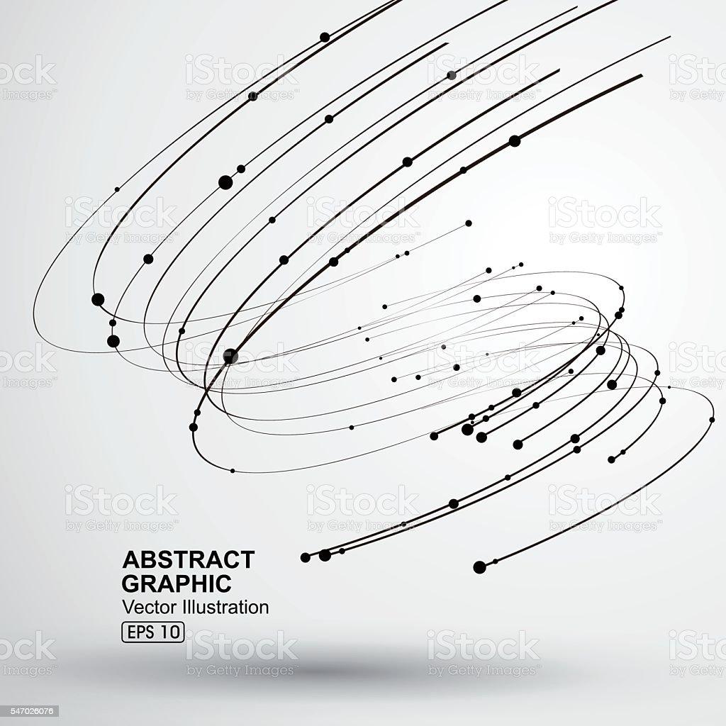 Vector Tornado,Abstract graphics. vector art illustration
