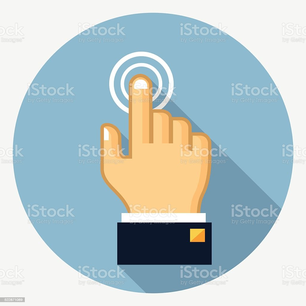 Vector touch finger icon vector art illustration