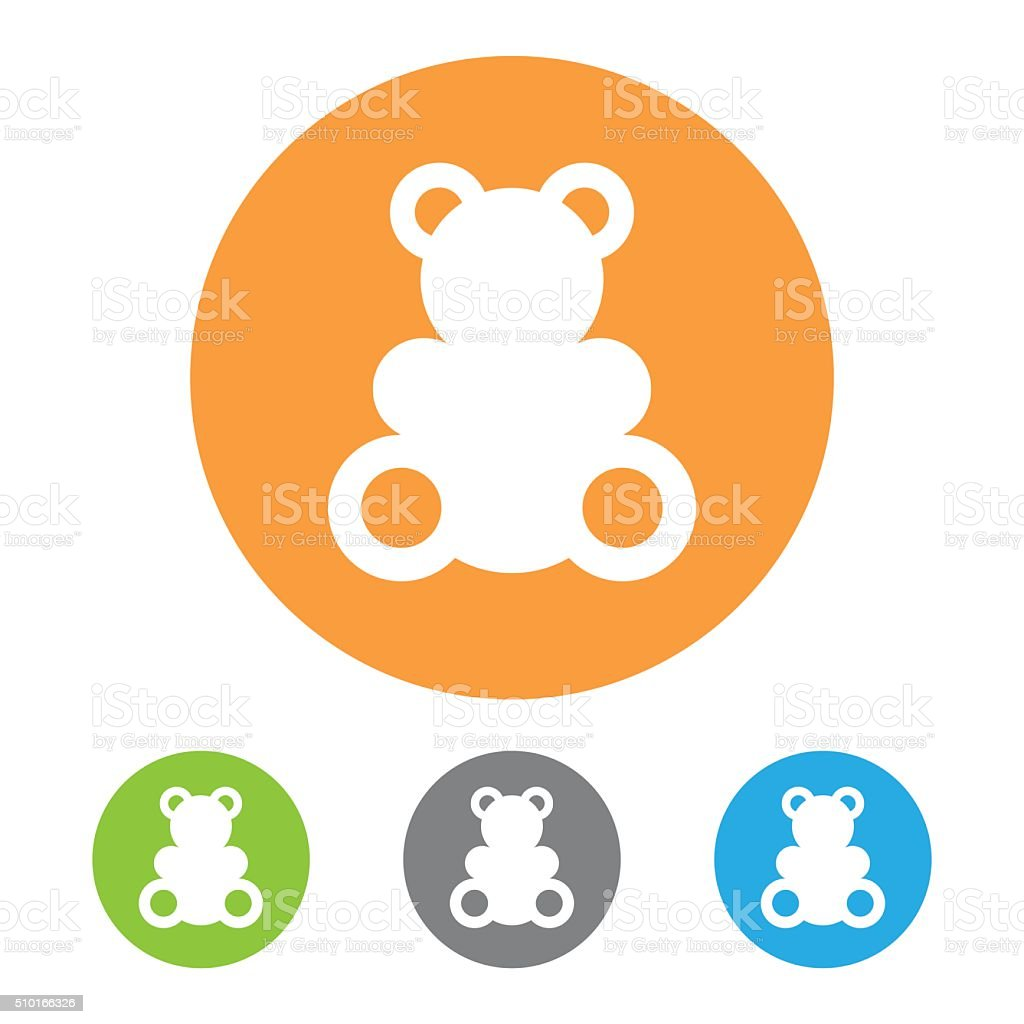 Vector toy bear icon vector art illustration