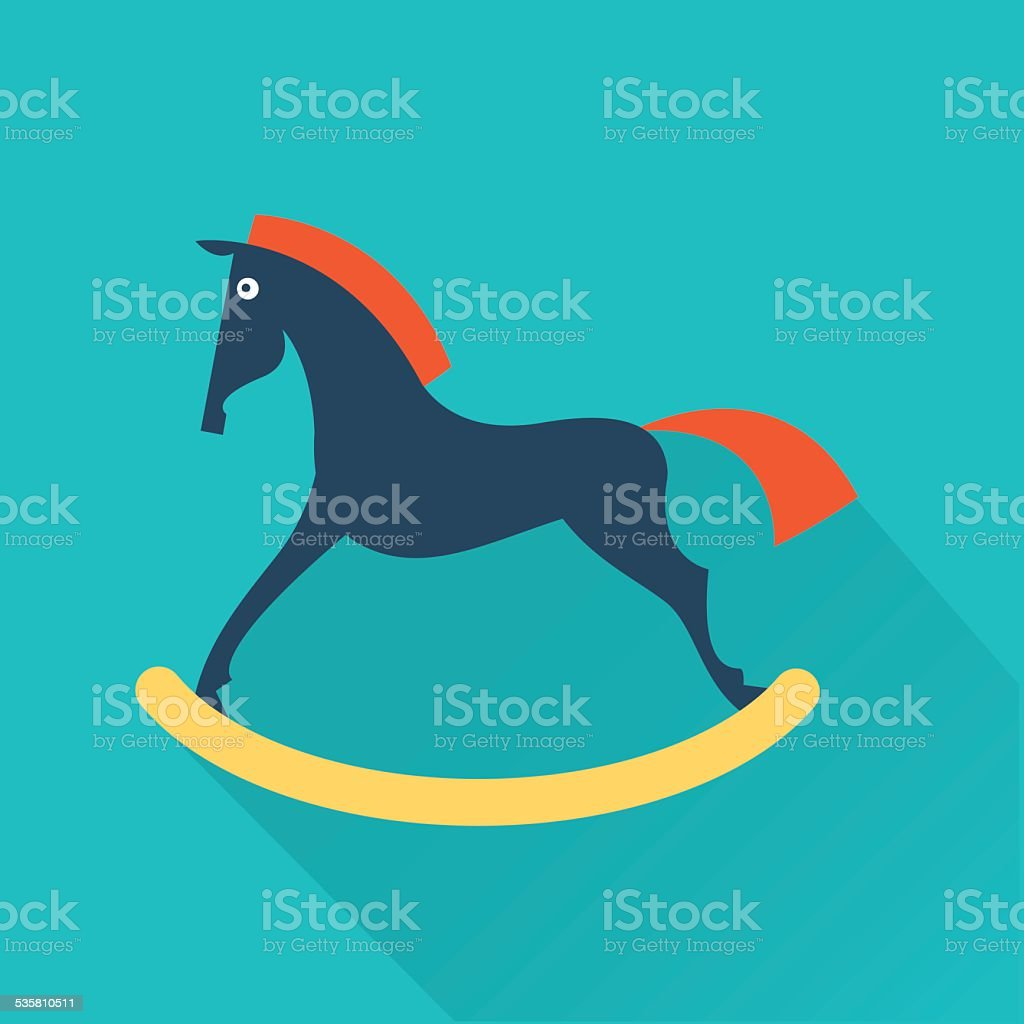 vector toy horse icon vector art illustration