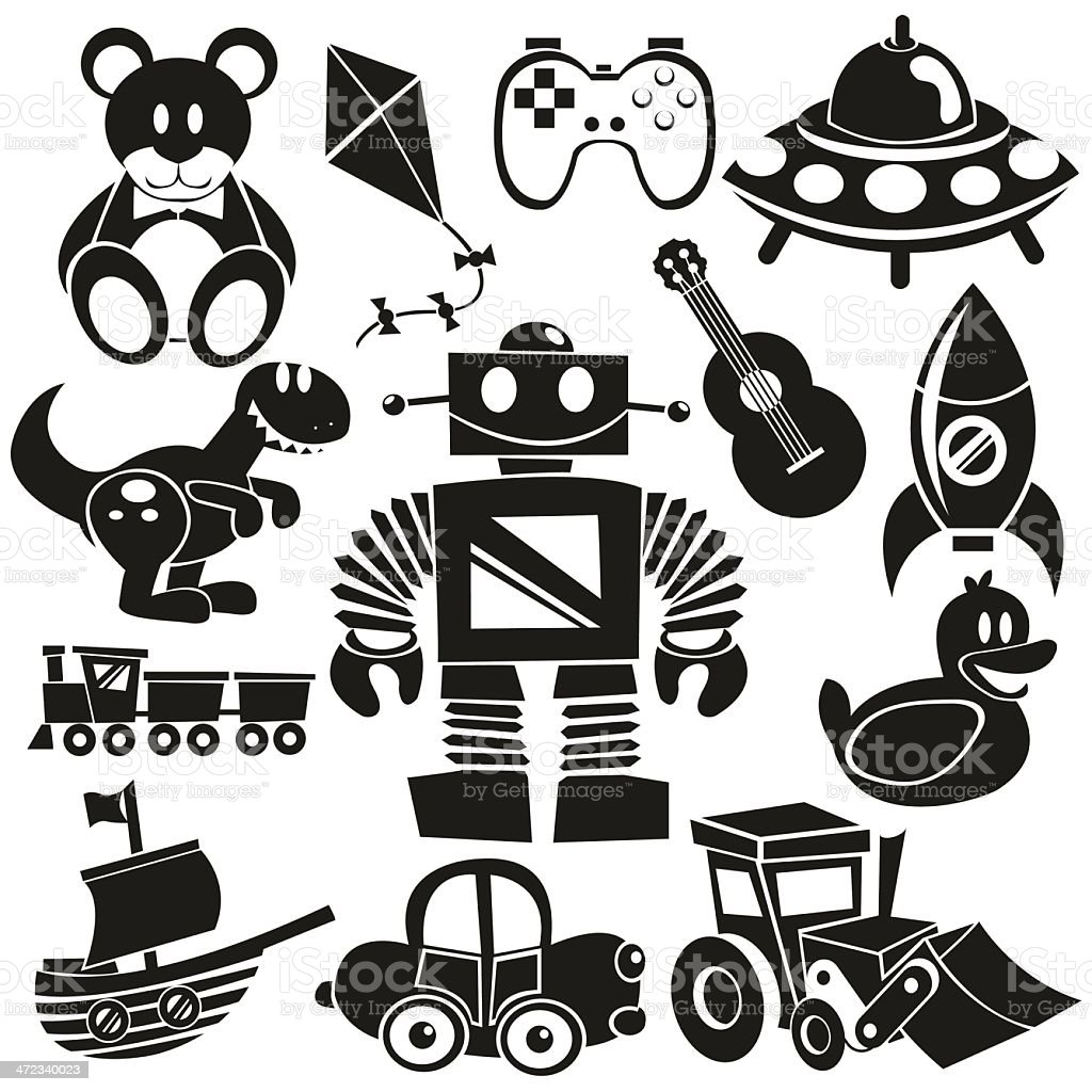 Vector Toys Icons Set royalty-free stock vector art