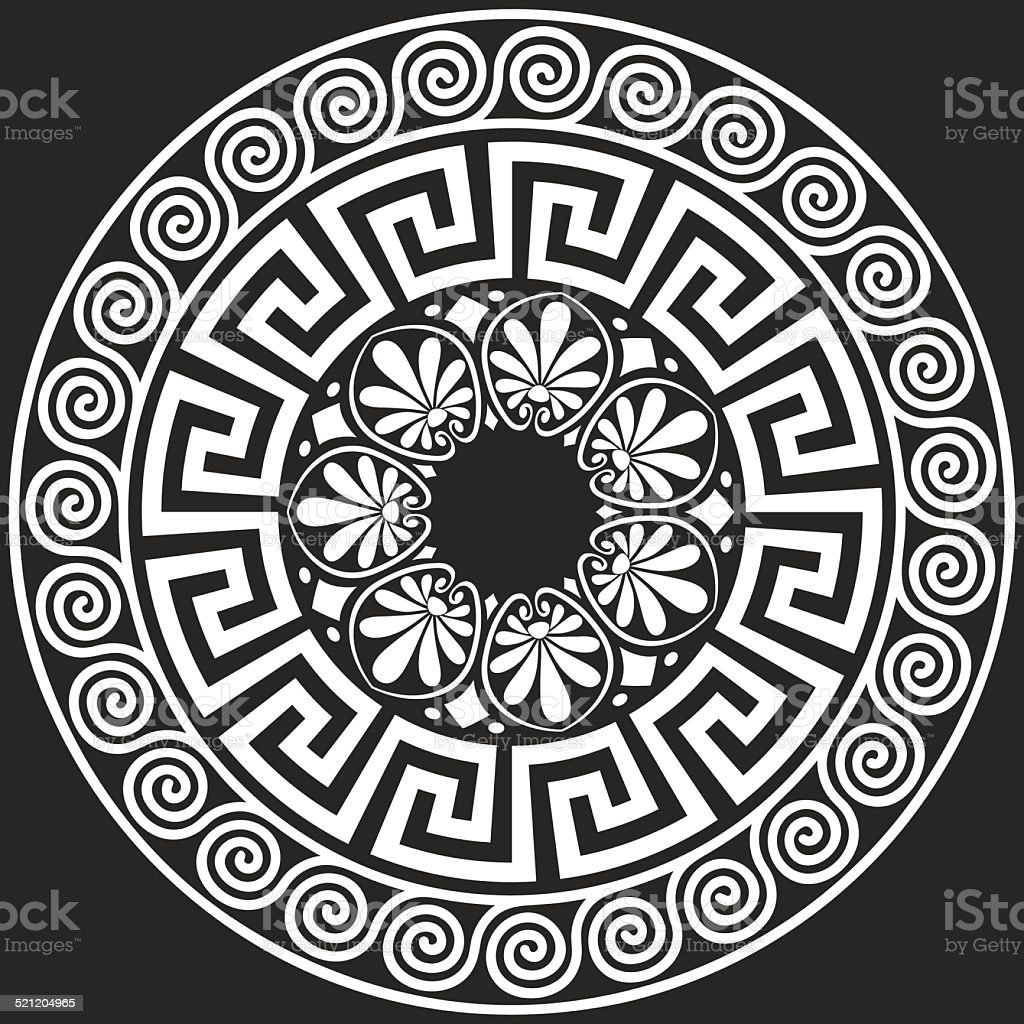 vector Traditional vintage Greek ornament (Meander) vector art illustration