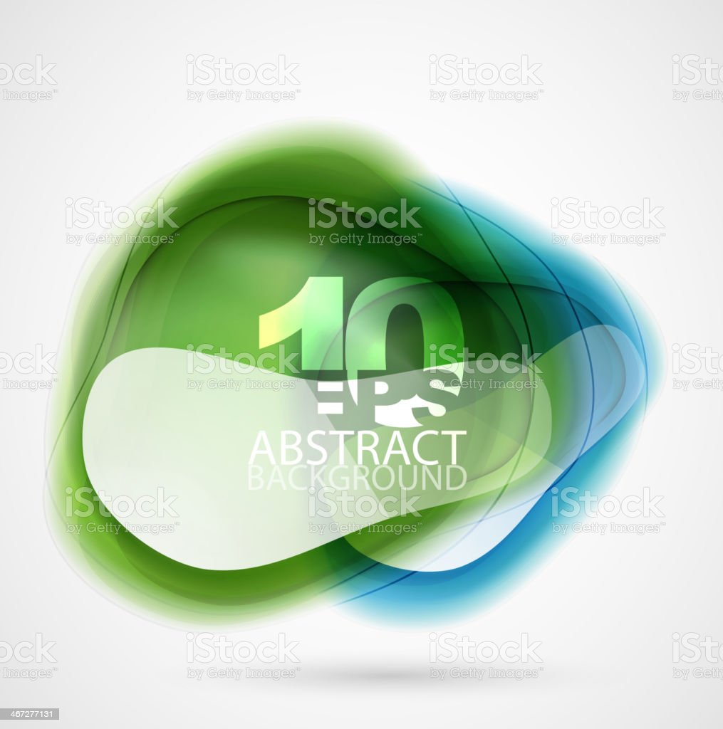 Vector translucent shapes abstract background royalty-free stock vector art