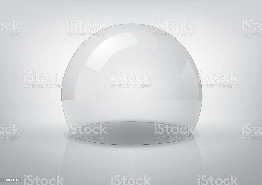 Vector transparent semi-sphere. vector art illustration
