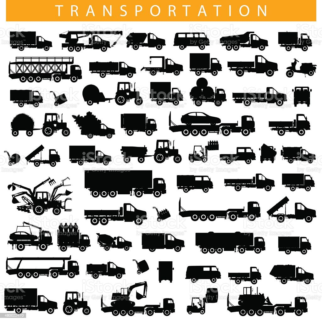 Vector Transportation Pictogram vector art illustration