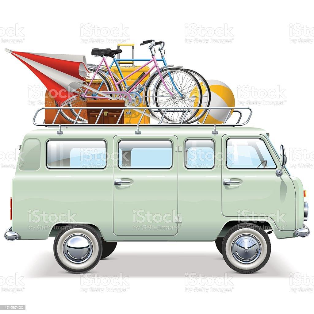 Vector Travel Car vector art illustration