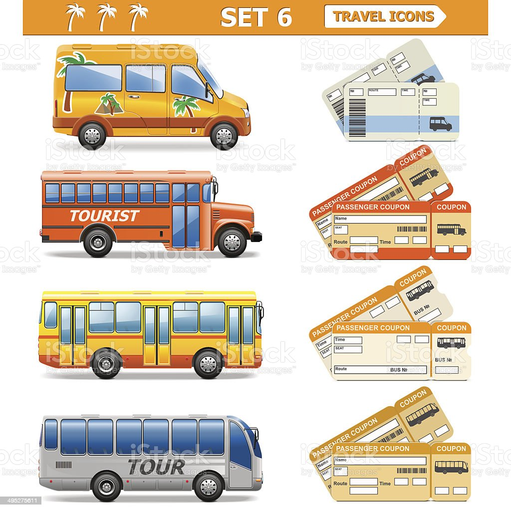 Vector Travel Icons Set 6 vector art illustration