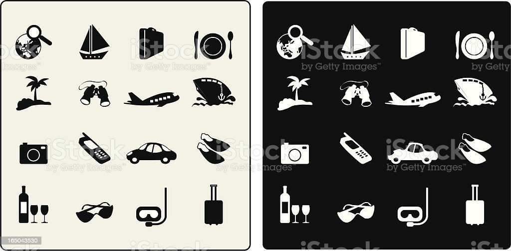 vector travel icons royalty-free stock vector art