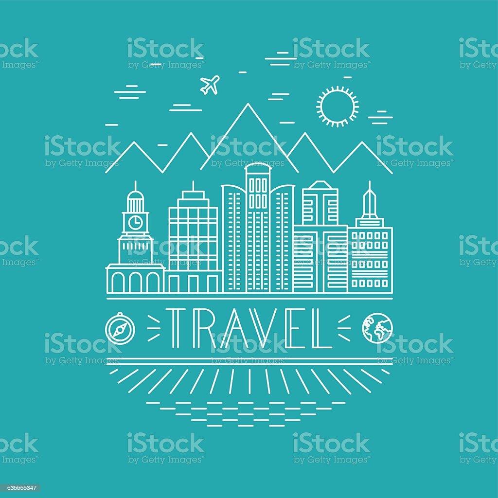 Poster design word - Banner Sign Sign Single Line Single Word Symbol Vector Travel Poster Design