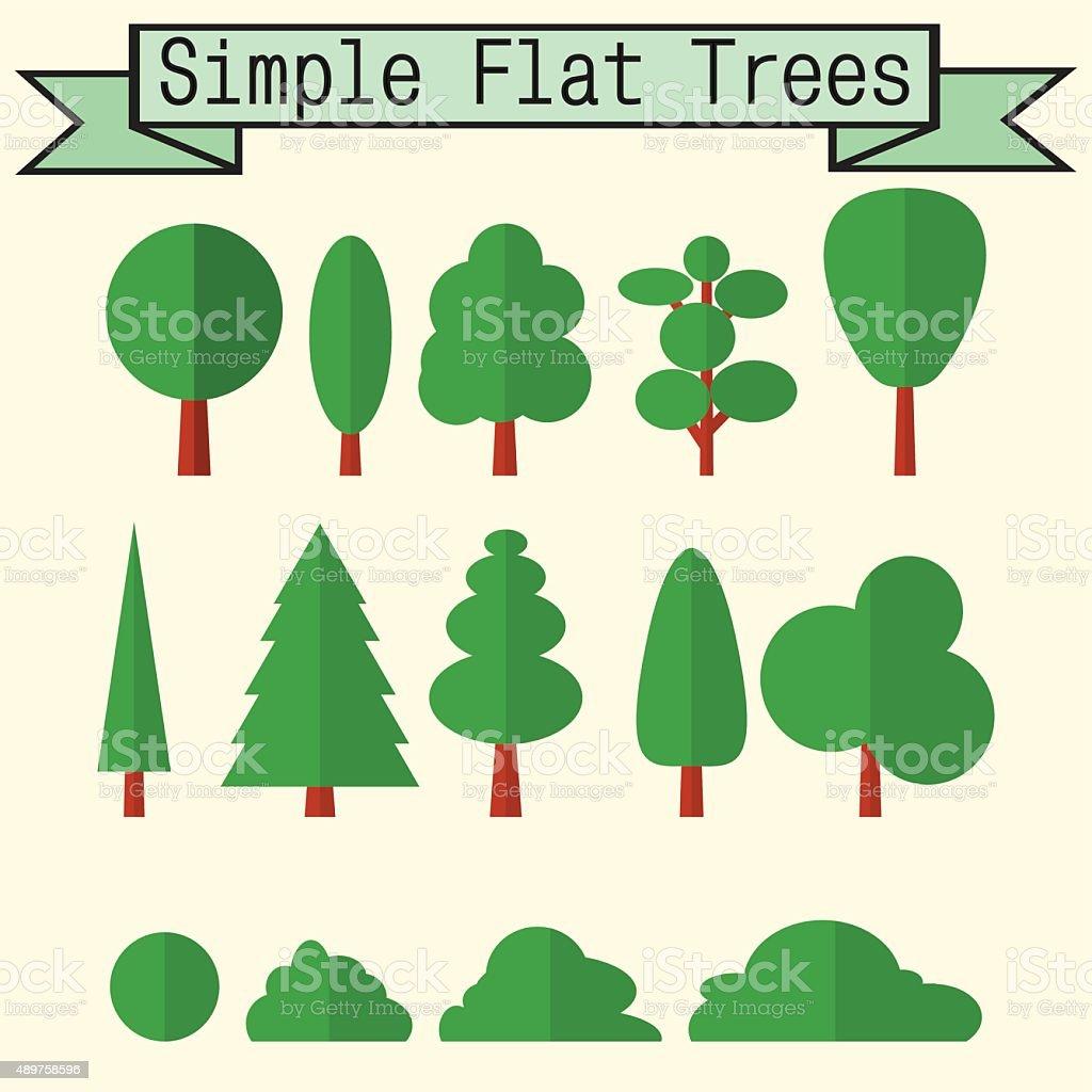 Vector tree nature element set. Illustration symbol element. Gre vector art illustration