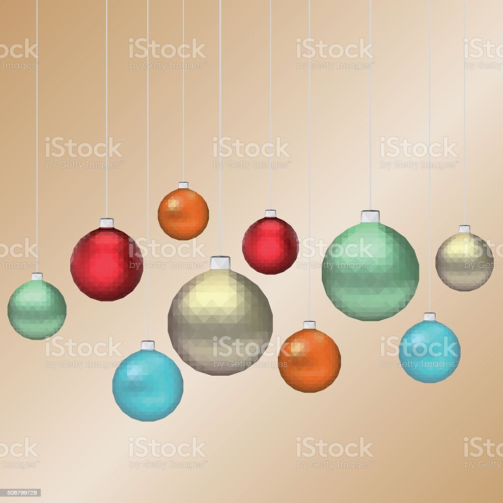 Vector Triangle geometrical christmas ball stock photo