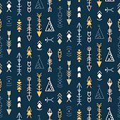 Vector Tribal Seamless Pattern Background
