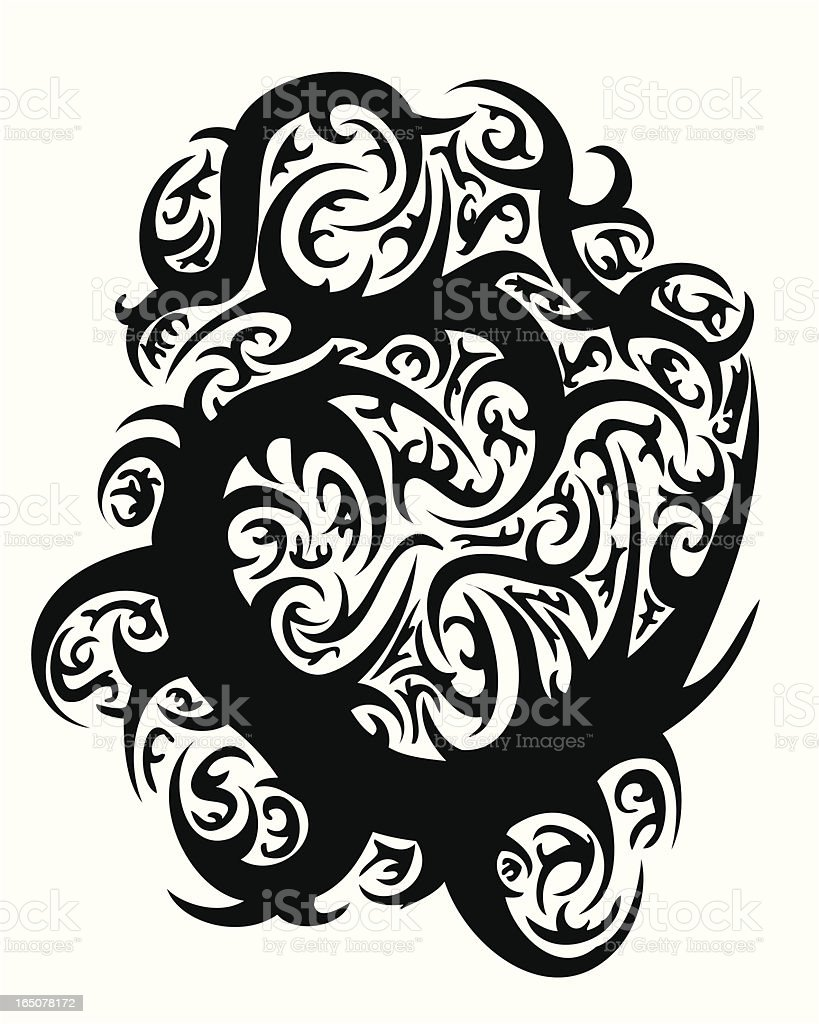 Vector Tribal Tattoo Thorn Design royalty-free stock vector art