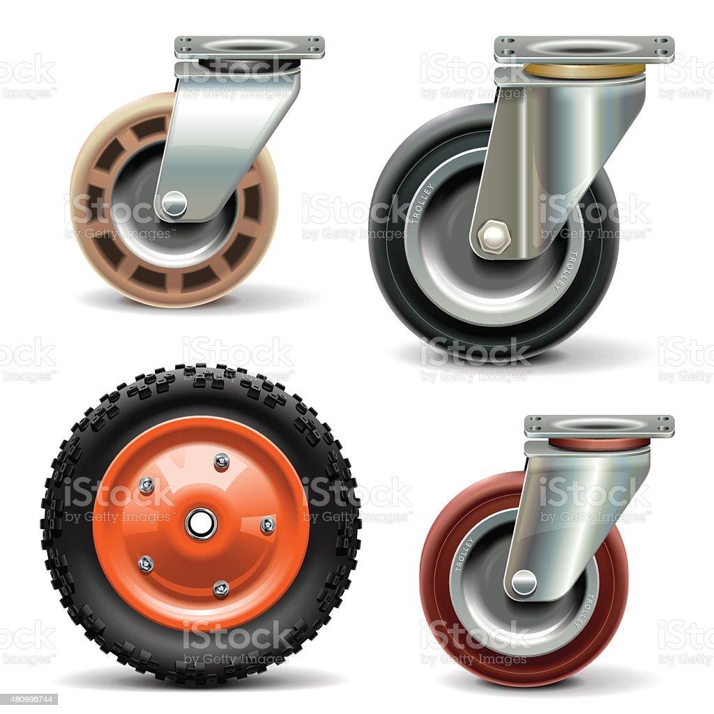 Vector Trolley Wheel vector art illustration