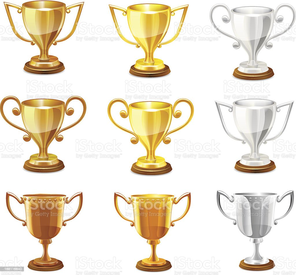 Vector trophy. royalty-free stock vector art