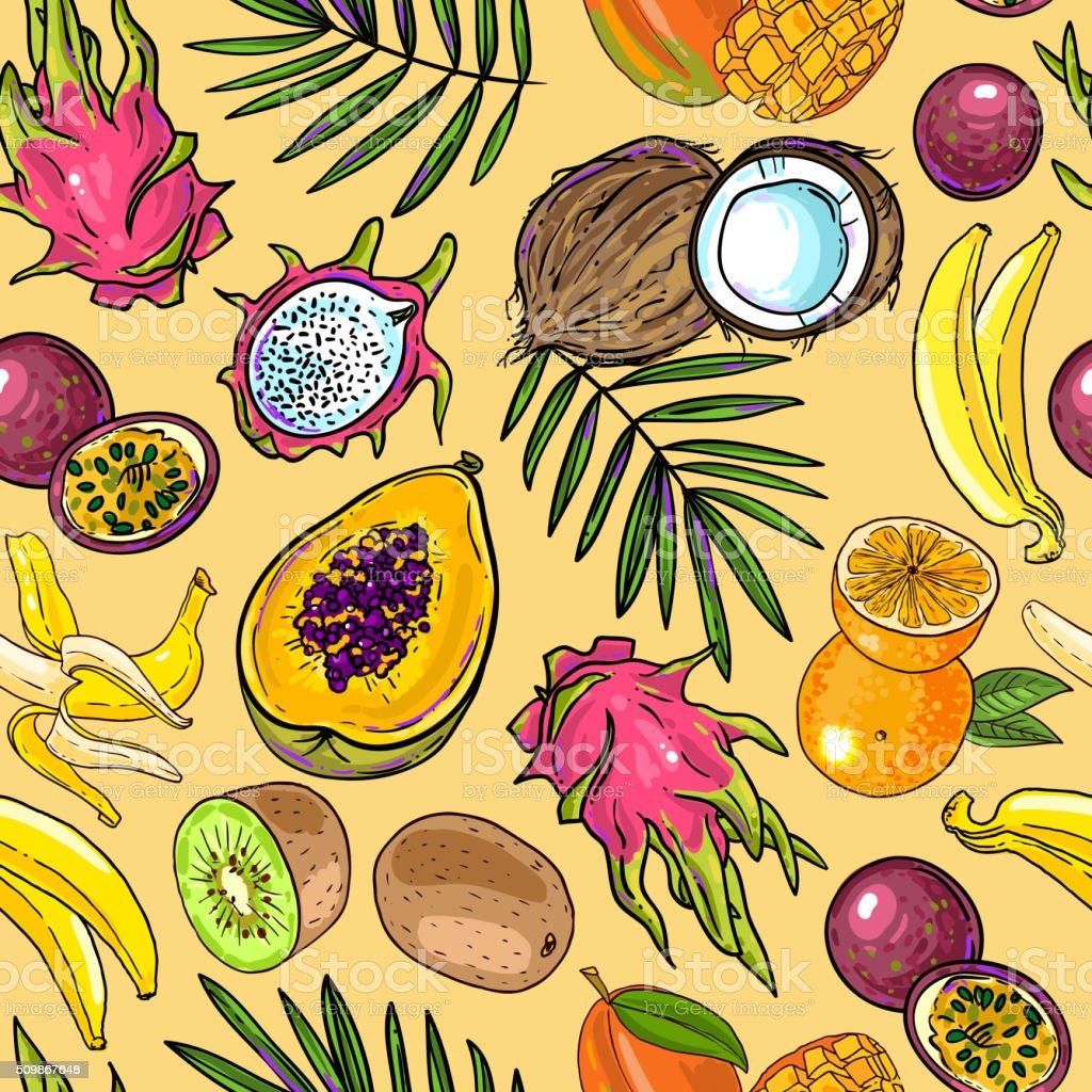 Рисунки тропического фрукта