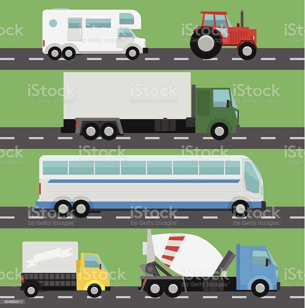 Vector camions stock vecteur libres de droits libre de droits