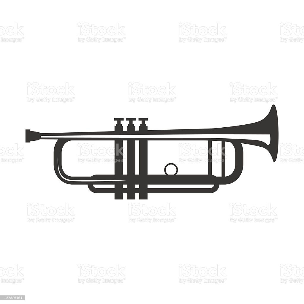 Vector trumpet royalty-free stock vector art
